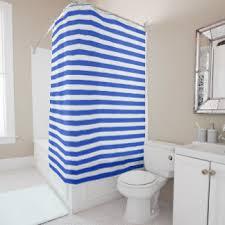 royal blue stripes shower curtains zazzle