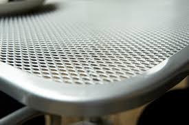 Outdoor Mesh Furniture by Outdoor Steel Solid U0026 Mesh Table Tops