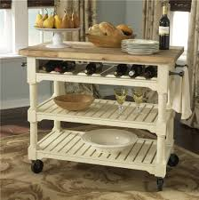 portable kitchen island with wine rack outofhome