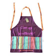 tablier de cuisine pour enfants tablier de cuisine pour enfant en coton prune c est qui la