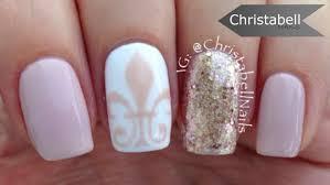 fleur de lis nail art tutorial u2013 classic nails youtube