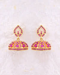 kerala style jhumka earrings buy jhumkis pearl silver gold plated jhumkis for women online