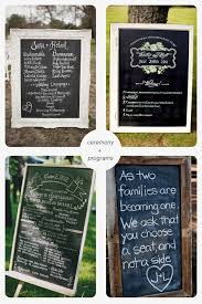 wedding program chalkboard five ways to use chalkboards
