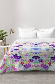 amy sia gracie spot pale purple comforter deny designs home