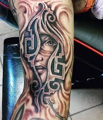 aztec arm tattoo men u0027s portrait designs aztec forearm tattoo