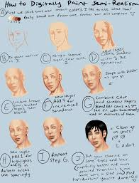 digital semi realism skin tutorial by thecomicstream on deviantart