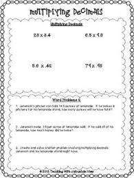 5 nbt 7 multiplying decimals word problems free download 5th
