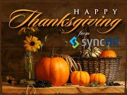 happy thanksgiving from synchr show your employees you re