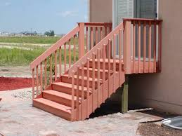 vinyl railings and banisters look attractive exterior stair