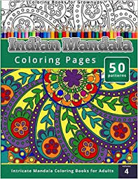 amazon coloring books grownups indian mandala coloring