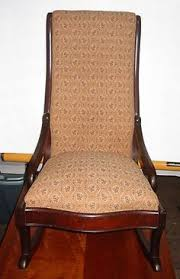 Rocking Chair Antique Styles Antique Mahogany Empire Style Rocking Chair Upholstered Rocker