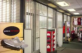 Interior Storefront Storefront Security Gates Qmi Security Shutters