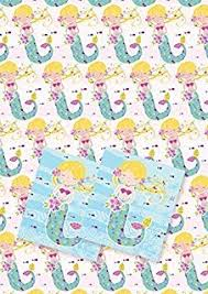 where to buy pretty wrapping paper mermaid design wrapping paper and gift tags set co uk
