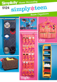 simply teen room organizers sewing pattern 5124 simplicity