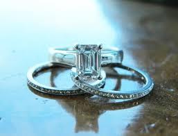 emerald cut wedding set of the week emerald cut diamond wedding set pricescope