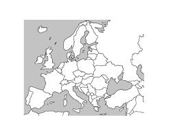 blank map of europe blank map of europe by katieluke84 teaching resources tes