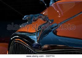 chrome greyhound vintage car ornament stock photo royalty