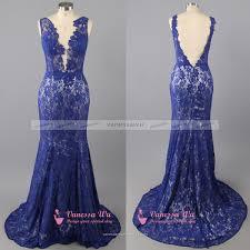 plunge v neck prom dress backless prom dress royal blue