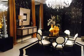 alissa sutton interior design black white gold dining room gold