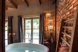 rustic farmhouse bathroom ideas hative red country bathroom decor