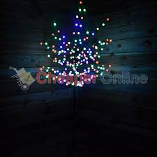 5ft multi coloured led lights with globe covers wire branch