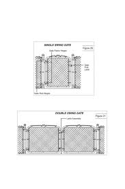 install a chain link fence hanging the gate