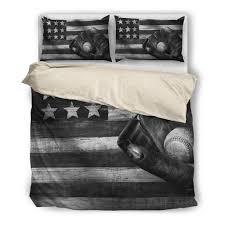American Flag Bed Set Cp Baseball American Flag Black U0026white Bedding Sets Zipoler