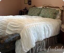best of knock off decor 6 white ruffled quilt