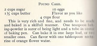 pound cake recipe from queen cook book 1895