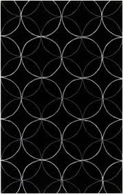 Black Modern Rug Modern Black And White Rug From The Cosmopolitan Collection By