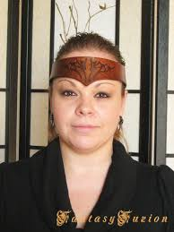 leather headband celtic tribal tattoo style leather headband crown