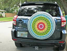 tire cover for honda crv summer rainbow crocheted spare tire cover by tristinandcompany