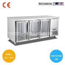 1798mm three glass door commercial undercounter refrigerator tt bc291