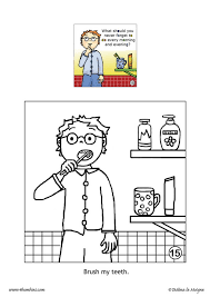 brosh my teeth coloring pages hellokids com