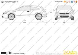 the blueprints com vector drawing opel astra opc