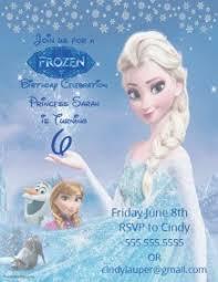 customizable design templates for frozen birthday invitation