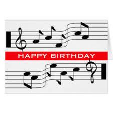 happy birthday music note cards zazzle