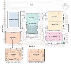 facility floor plan facility pasadena convention center