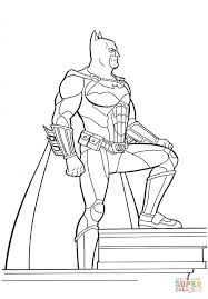 batman on the top of building coloring page free printable