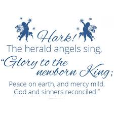 christmas decal hark the herald angels sing divine walls