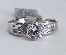 cubic zirconia engagement rings white gold cubic zirconia white gold engagement rings ebay