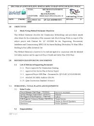 method statement for block paving concrete surveying