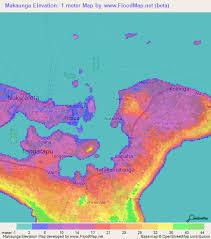 tonga map elevation of makaunga tonga elevation map topography contour