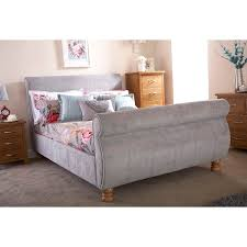 Upholstered Sleigh Bed Upholstered Beds Up To 60 Off Rrp Next Day Select Day Delivery