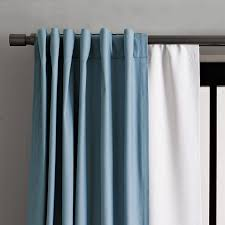 How To Hang Pottery Barn Curtains Blackout Curtain West Elm