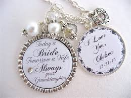 grandmother granddaughter necklace grandmother of the gift of the groom always your