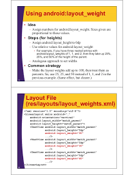 android textview set layout weight android layouts