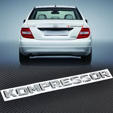 chrome benz citall new 3d chrome kompressor badge emblem sticker for mercedes