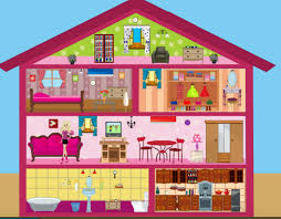Unusual Home Decor Games Delightful Decoration Barbie Doll House