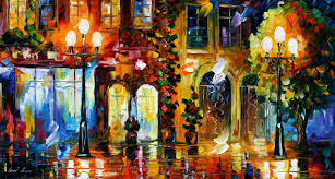 night doors u2014 palette knife oil painting on canvas by leonid